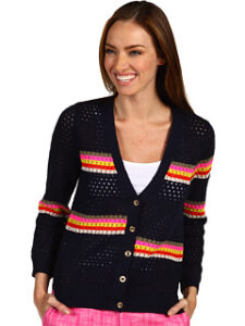 Pulover Juicy Couture Lagoon Stripe Mesh Cardigan