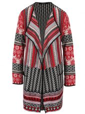 Cardigan lung cu motive etno multicolore Desigual Call